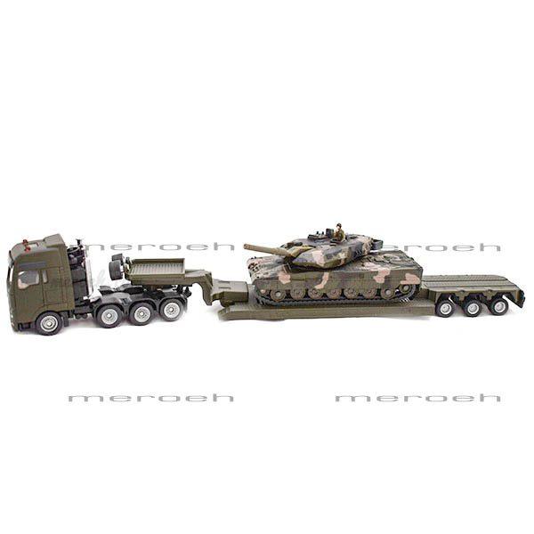 ماکت تریلی حمل تانک Siku مدل Heavy Haulage Truck with Tank