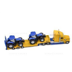ماکت تریلی حامل تراکتور Siku مدل Chunky US Truck and NewHolland Tractors