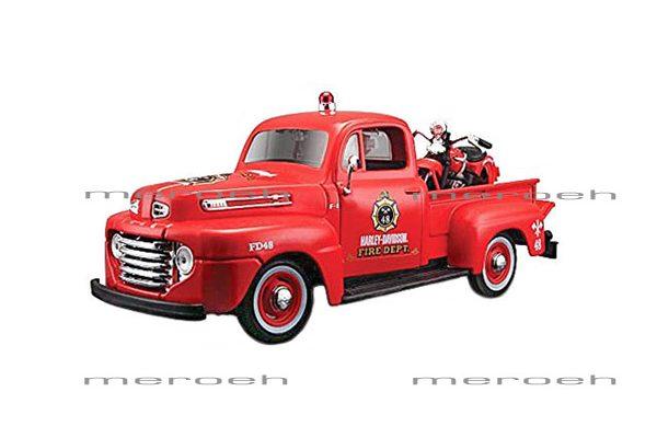 ماکت وانت Maisto مدل Ford F1 Pickup و موتورسیکلت Knucklehead