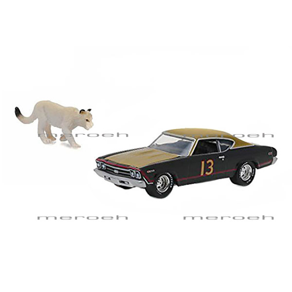 ماکتماشین GreenLight مدل Chevrolet Chevelle به همراه فیگور Cougar
