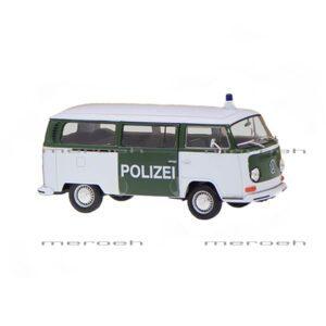 ماکت ماشین پلیس Welly مدل Volkswagen Bus T2 1972