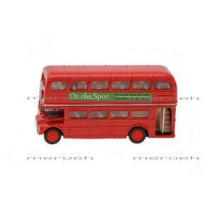 ماکتاتوبوس دوطبقه انگلیس Welly مدل London Bus سایز کوچک
